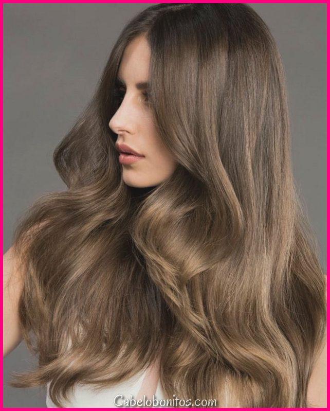 30 cor de cabelo castanho evidente para olhar lícito e encantador