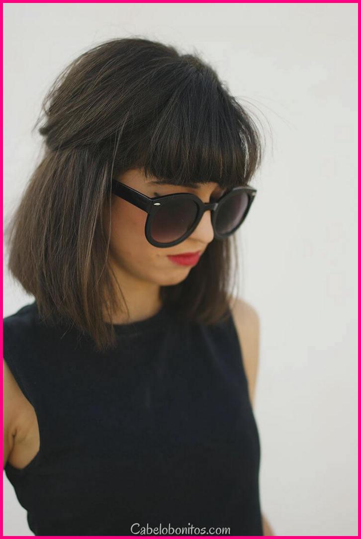 50 maneiras de usar cabelo pequeno com franja para um novo visual