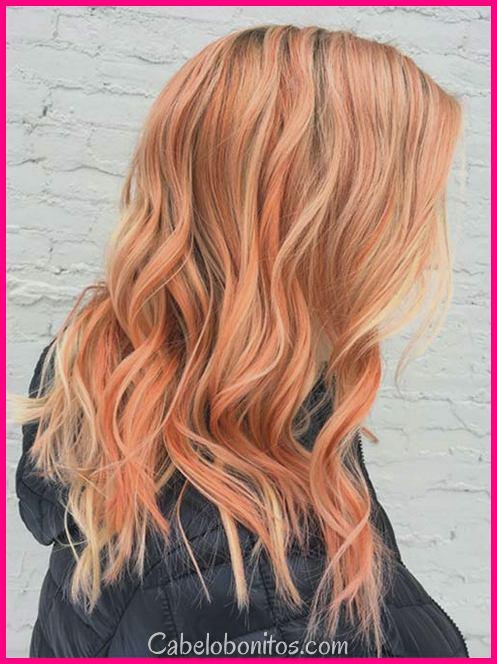 26 ideias bonitas da cor do cabelo do pêssego: Como tingir seu pêssego do cabelo