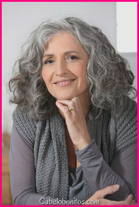 Estilos de cabelo cinza lindo