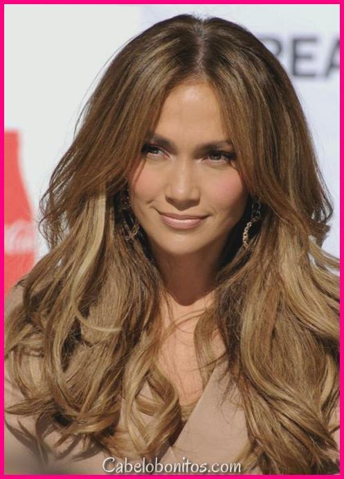 8 idéias para cabelos castanhos claros com destaques e lowlights