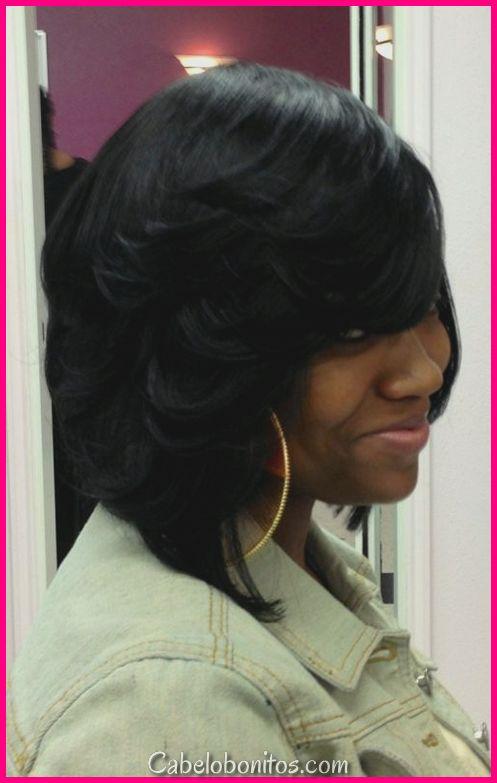 45 penteados de golpe de penas para cabelo pequeno, médio e longo