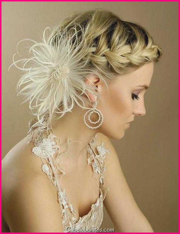 Penteados para cabelos curtos Casamentos e ideias para decorar cabelos