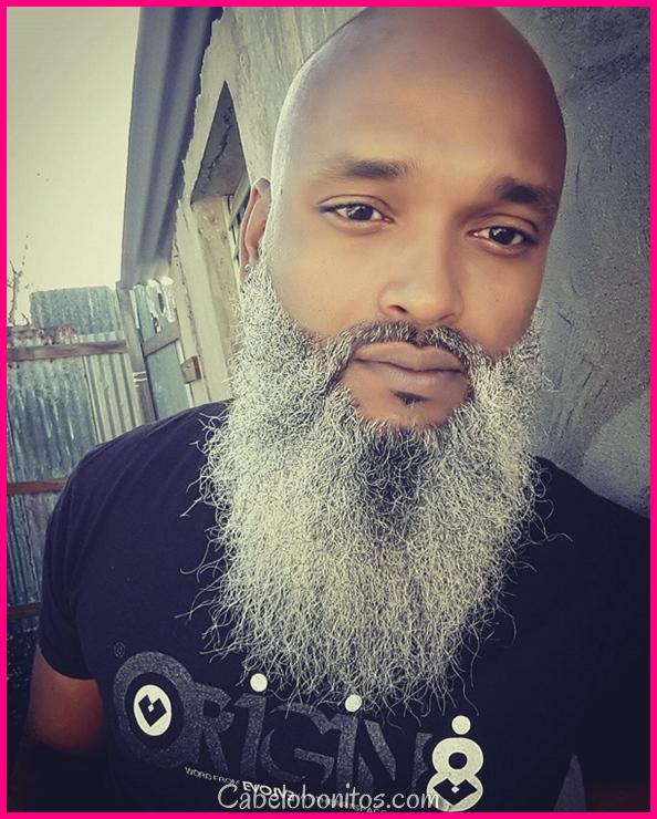 Cabeça raspada com barba - 65 estilos de barba para homens carecas