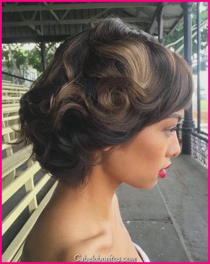 23 penteado de enlace mais glamouroso para cabelo pequeno