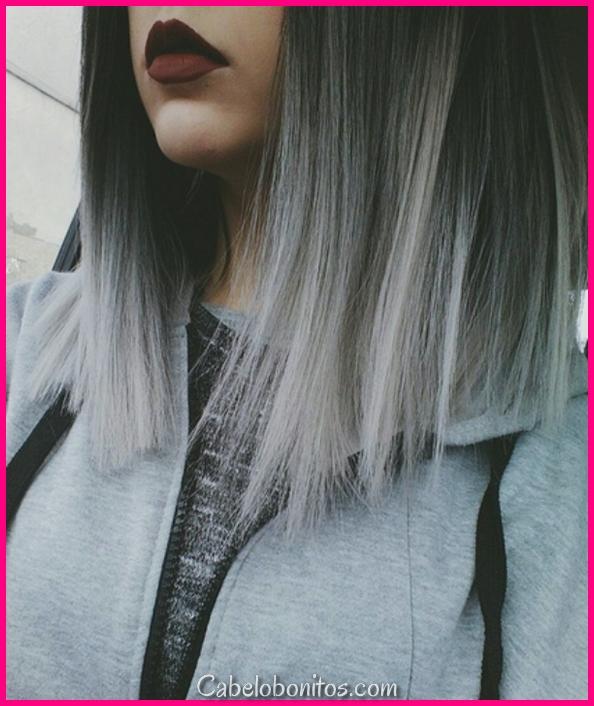 21 ideias de cor de cabelo prateado para ir cinza nesta temporada