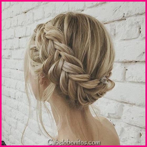 27 penteados de trança para cabelos curtos que são simplesmente lindos