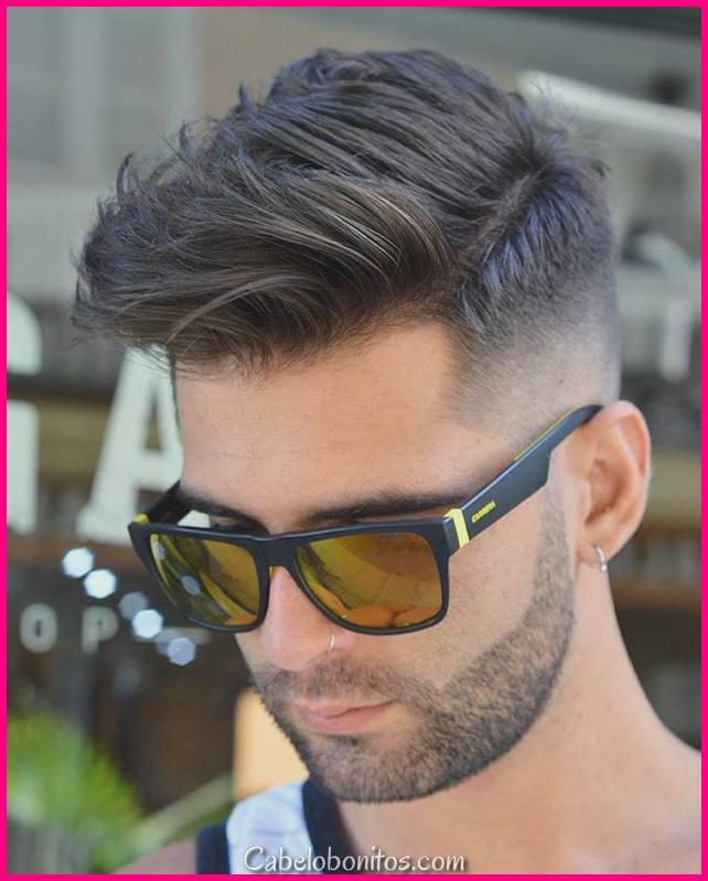 Cortes de cabelo curtos na voga para homens para Lookness