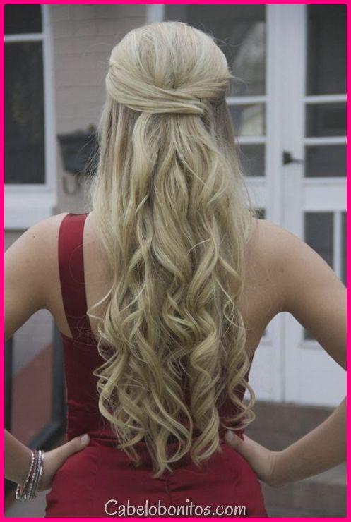 39 Half Up Half Hairstyles Para Fazer Você Look Perfecta