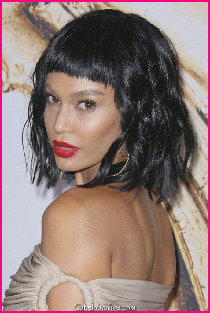 30 penteados femininos com franja para um visual glamoroso