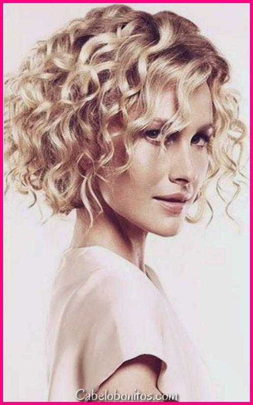 21 elegante e glamourosa encaracolado Bob penteado para mulheres