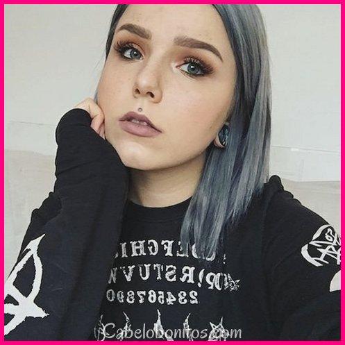36 Denim Hair Color Ideas para combinar com seu jeans em 2018