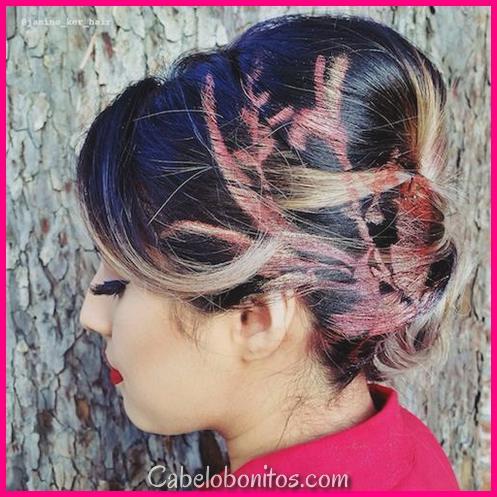 24 estêncil cabelo, idéias de cabelo de grafite para mostrar em 2018
