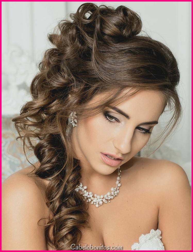 Penteados de matrimónio moderno semi-coletados, por que escolhê-los