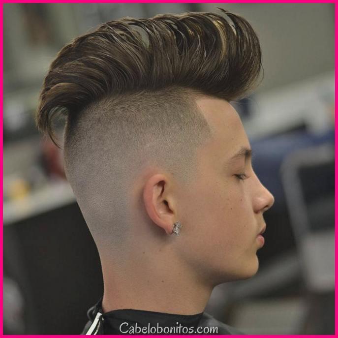 15 penteados mohawk para homens para olhar suave