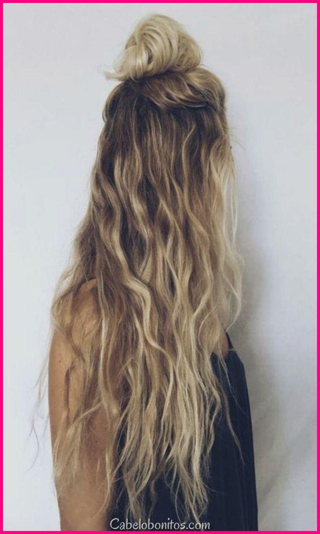 Como olhar bom com penteados de sarau simples para cabelo longo encaracolado 2018