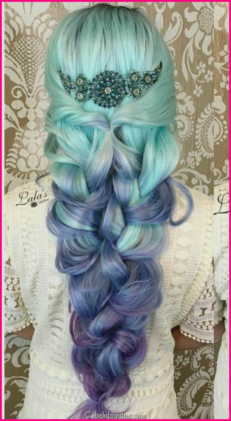 27 Penteados Super Cool Blue Ombre