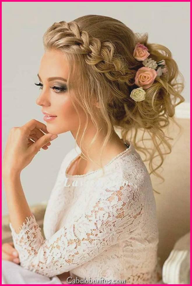 15 penteados Updos Prom para mulheres de cabelo extenso