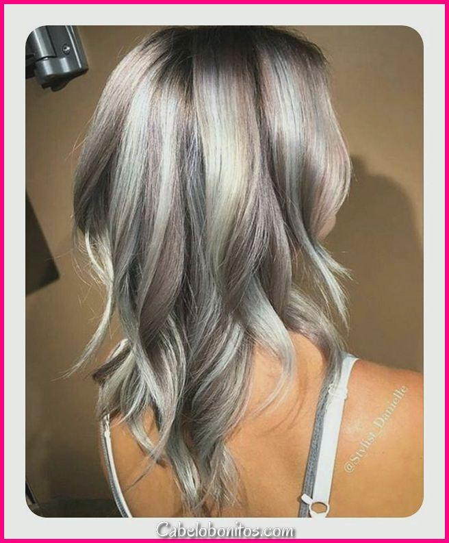 104 penteados longos e curtos de cinza 2018