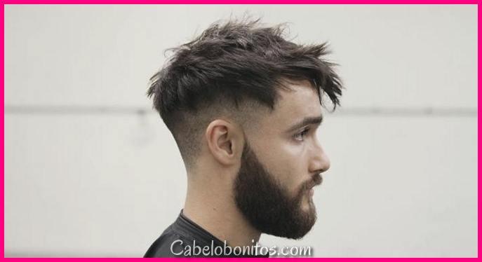 Penteados desarrumados de 16 homens para fisionomia elegante