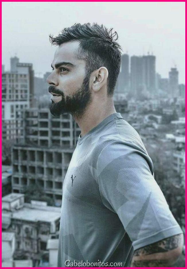 Penteados Virat Kohli - elegante e vale a pena tentar por todos os homens
