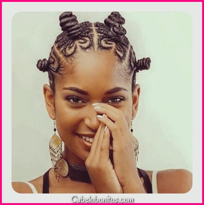 81 Cool Bantu Knots Penteados e Tutorial