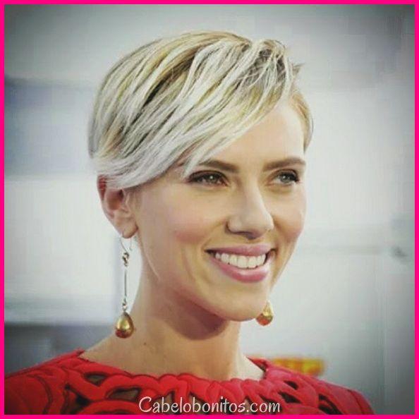 Scarlett Johansson cabelo pequeno: penteados mais recentes