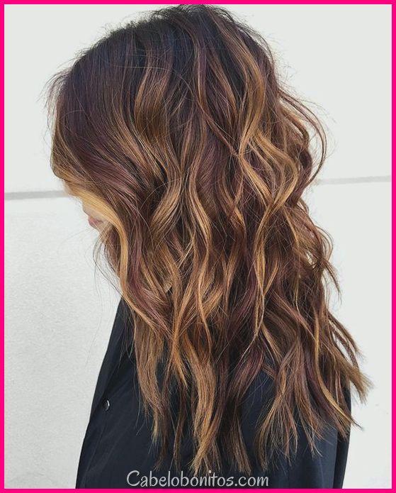 27 penteados castanhos mais vibrantes e impressionantes para as mulheres
