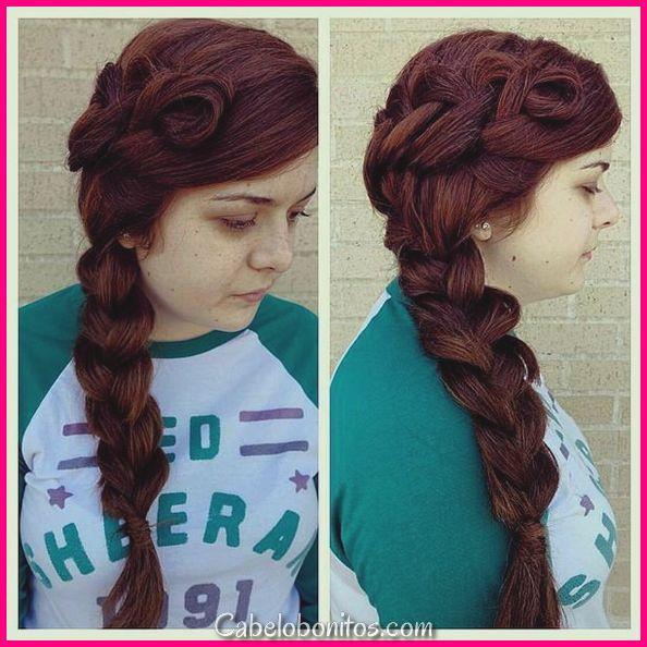Penteados de dança linda para cabelos longos