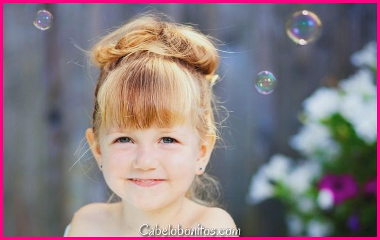 Penteado de rapariga - 50 adoráveis idéias para a primavera