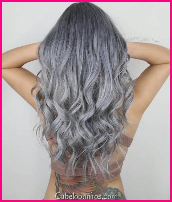 25 Silver Hair Color parece que são absolutamente lindo