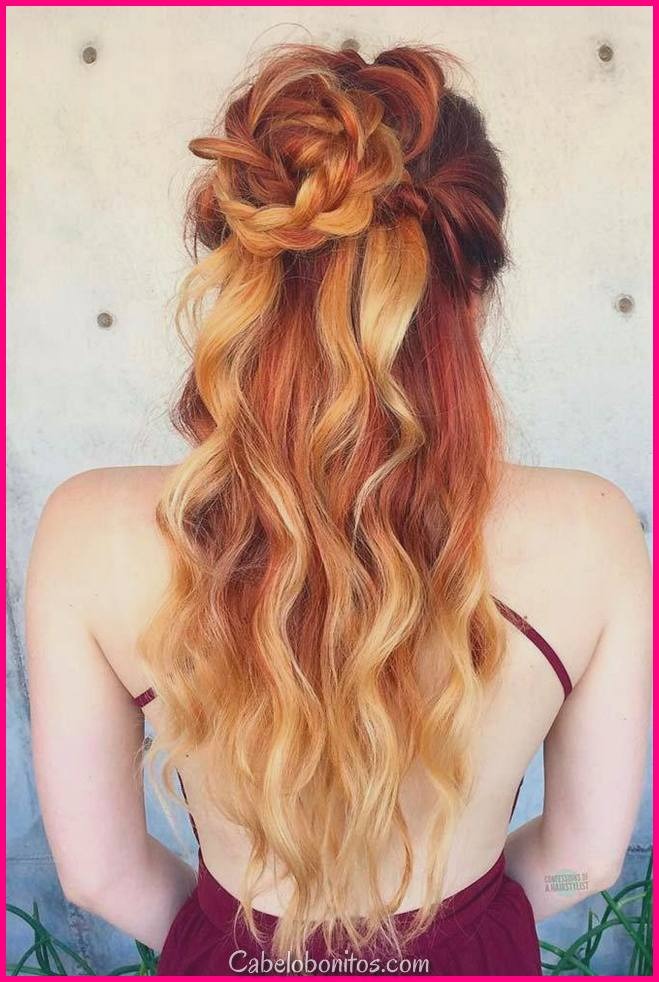30 cortes de cabelo longos e penteados para as mulheres para olhar lindo