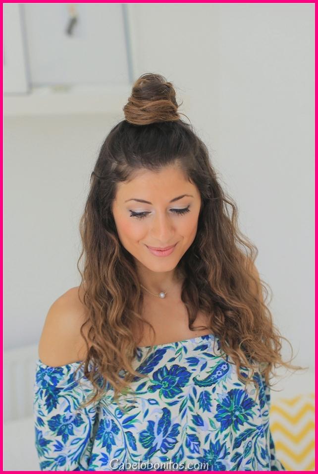 O que são penteados fáceis para cabelos compridos para fazer em lar Step By Step 2018
