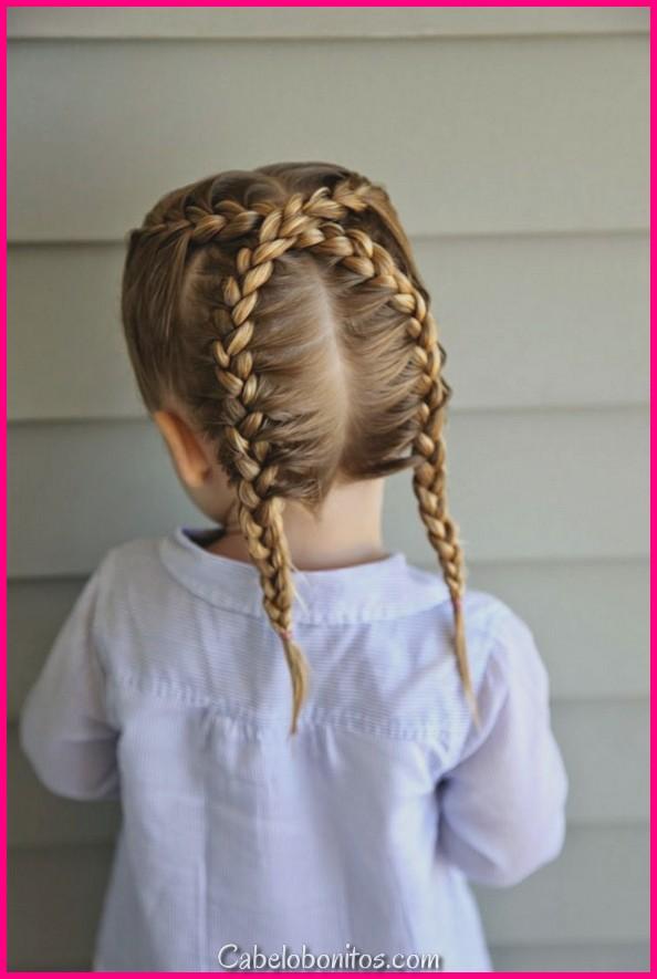 32 tranças permitido e bonito para crianças com imagens