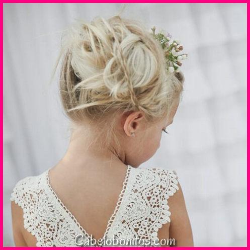 50 penteados de rapariga de flor comovente