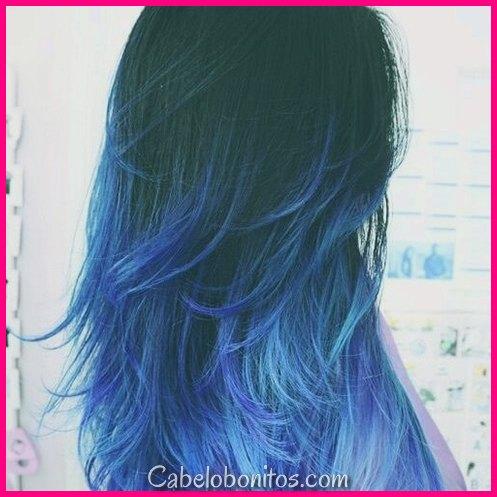 50 estilos de cabelo Ombre Super Cool Blue